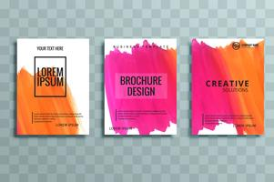 ensemble de brochures d'affaires moderne coloré