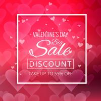 Abstract valentine's day sale colorful background illustration