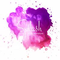 Beautiful colorful soft watercolor splash background
