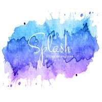 Beautiful hand paint watercolor colorful splash on white design