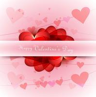 Valentine's day Illustration of love heart card design