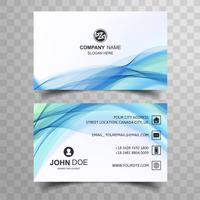 Abstract blue wave business card baclkground