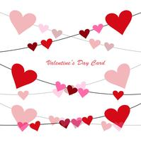 Fond de carte de voeux Happy Valentine's day