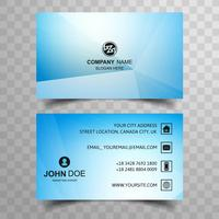 Abstract blue polygon business card background