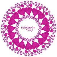 Happy Valentine's day decorative heart background
