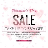 Abstract valentine's day sale background