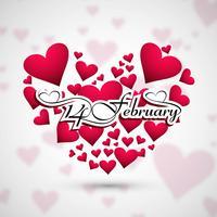 Creative valentine's day hearts decorative design