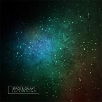 Bright colorful magic light in the dark galaxy background