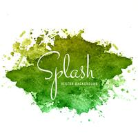 Beautiful hand paint watercolor colorful splash on white backgro