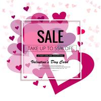 Valentines day colorful hearts sale background illustration
