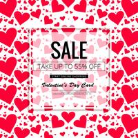 Happy valentine's day sale background vector