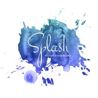 Abstract watercolor blue splash design background
