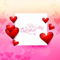 Valentine's day with card beautiful background