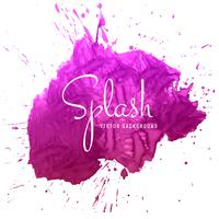 Beautiful hand paint watercolor splash on white background