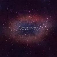 Galaxy Space Background con nebulosa, stardust e brillante splendente