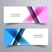 Modern colorful banners set background vector