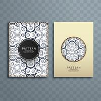 Abstract creative floral pattern brochure design illustration