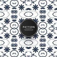 Seamless geometric floral pattern vector design
