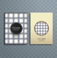 Abstract retro pattern brochure design illustration