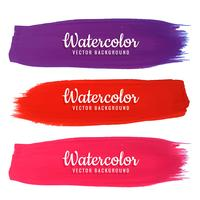 modern watercolor strokes set