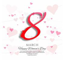 Stylish women's day background vector