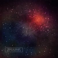 Bunter Raum-Galaxie-Hintergrund mit glänzenden Sternen