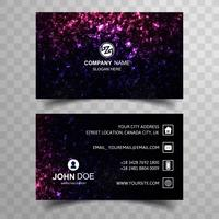 Abstract colorful glitters business card template design