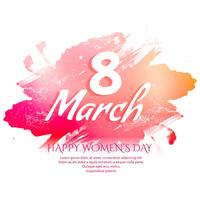 Happy Women's Day celebration elegant greeting card design