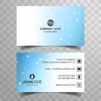 Abstract business card with polygon baclkground