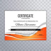 Certificate Premium template awards diploma creative wave design