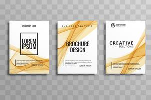 modern business brochure set