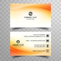 Plantilla de tarjeta de visita abstracta con diseño de onda colorida