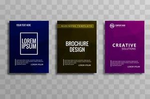 Abstract colorful polygon business brochure set