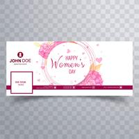 Women's day facebook cover with floral design
