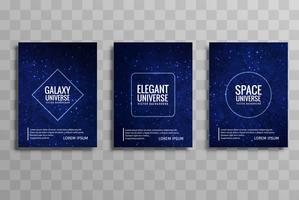 Bella galassia colorato business brochure design set