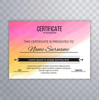 Certifikat Premium mall prisutmärkelse färgstark akvarell