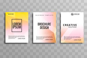 Kreativ polygon broschyr set flyer design illustration