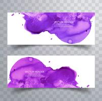 abstrakte Farbe Pinsel bunte Aquarell Splash Header set backg