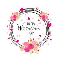 Beautiful Women's Day card background vector