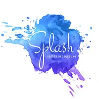 Beautiful colorful watercolor stroke splash background