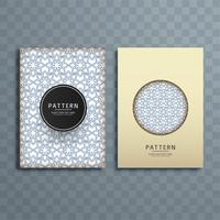 Abstract pattern brochure design illustration