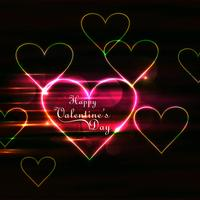 Modern valentine's day shiny hearts colorful background