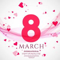 International women's day poster. 8 number origami design
