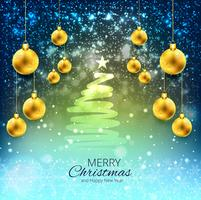 Elegant christmas colorful background with balls design