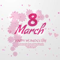 International women's day poster. 8 number origami vector