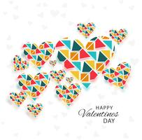 Modern valentine's day colorful hearts background