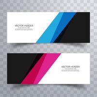 Banners de colores modernos set diseño