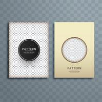 Abstract creative pattern brochure design illustration