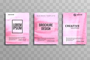 Beautiful business brochure card set design