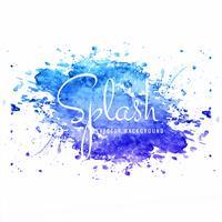 Modern hand drawn blue watercolor splash background vector